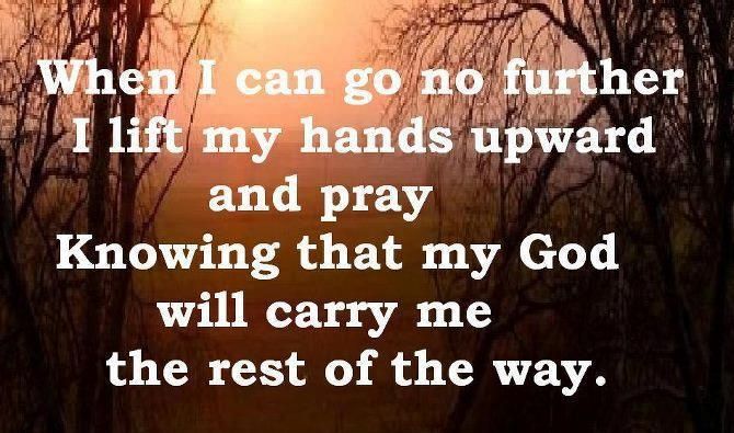 My God will carry me.