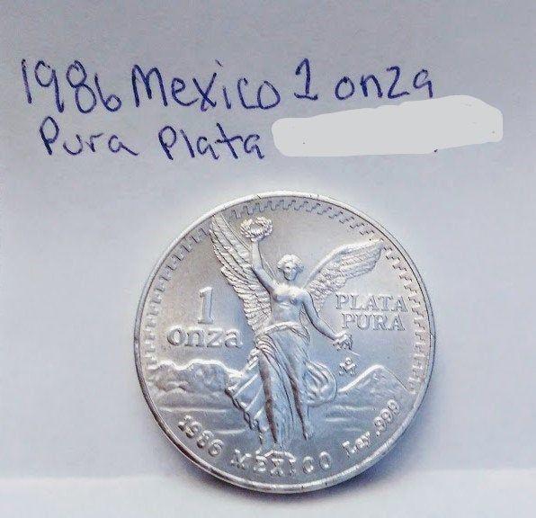 1986 Mexican Libertad Silver 1 oz coin