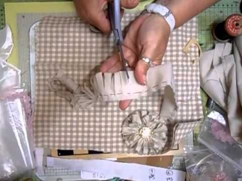 ▶ Shabbychic - Vintage Flower Tutorial (1st Flower) - jennings644 - YouTube