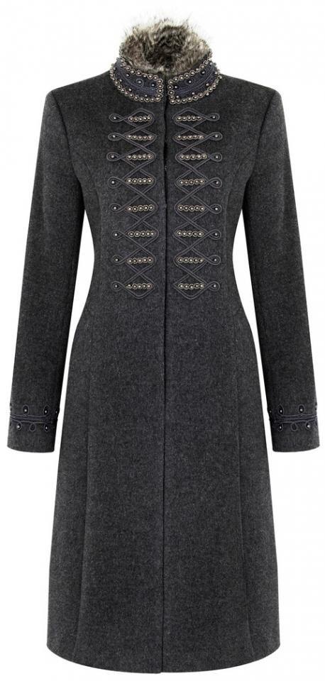 TK Maxx embroidered faux fur collar coat, £149. High Street, Worcester. (www.tkmaxx.com).
