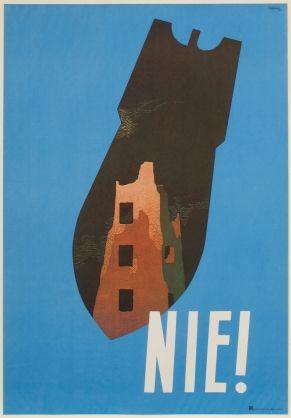 Tadeusz Trepkowski, Nie! [No!], 1952, offset lithograph, 96.0 x 66.0 cm,