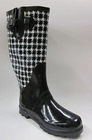 Tall Black and White Houndstooth Wellies. $29.95 from Signals. :)