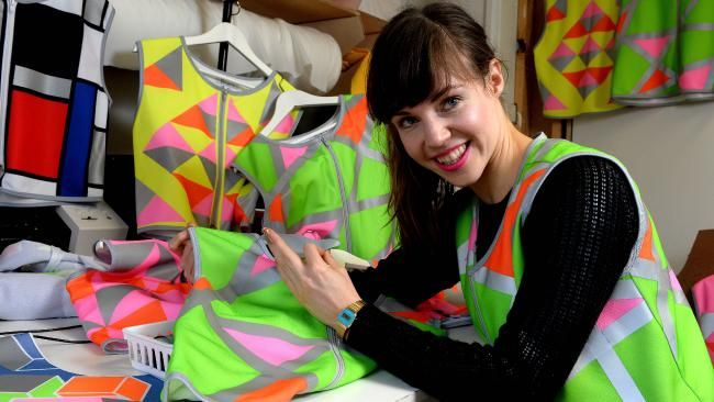 Lisa Penney creates hi-vis vests for commuters to wear while cycling.
