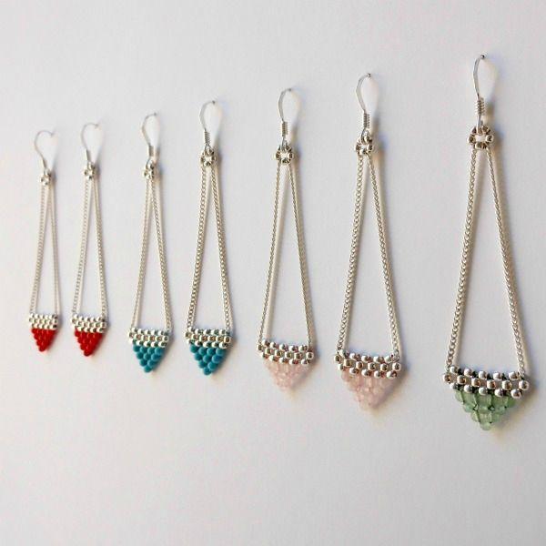Boucles d'oreilles Ko Jari - turquoise, quartz, aventurine, corail - Bijoux Natasha R