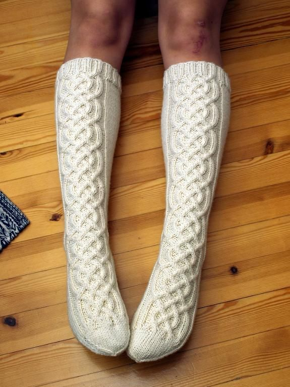Cable Knit Sock Pattern : 471 best Knit - Sock Hop images on Pinterest Knitting socks, Knit socks and...