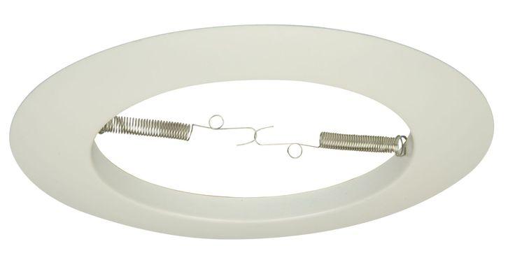 """Jeremiah Lighting T-501 8"""" Diameter Open Ring Recessed Trim 150 Watt Max White Recessed Lights Recessed Trims Open Trims"""
