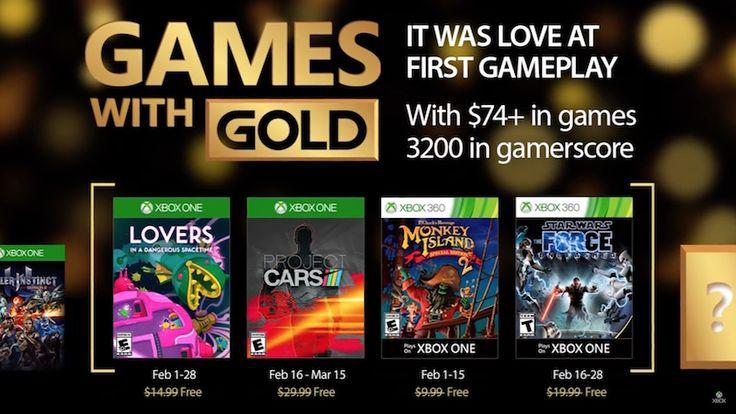 Jocurile Gratuite ale lunii Februarie prin programul Xbox Live Gold, includ Project CARS și Monkey Island 2