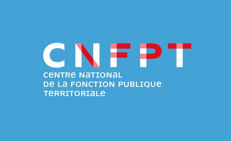 Conception de l'identité visuelle du Centre National de la Fonction Publique Territoriale. Les couleurs « bleu, blanc et rouge » de ce logo ont été adoptées pour renforcer la notion de service public.