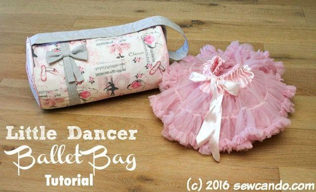 Timeless Treasures   Tutorial: Little Dancer Ballet Bag by Sew Can Do