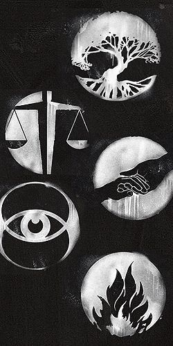 Official faction symbols from the Divergent movie. Seriously thinking about getting these as tattoos..
