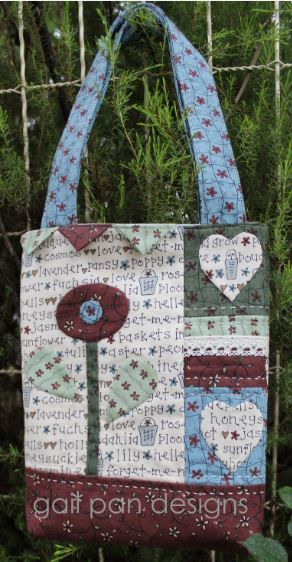 Love Blossoms Bag.  Sewing patterns by Gail Pan Designs.