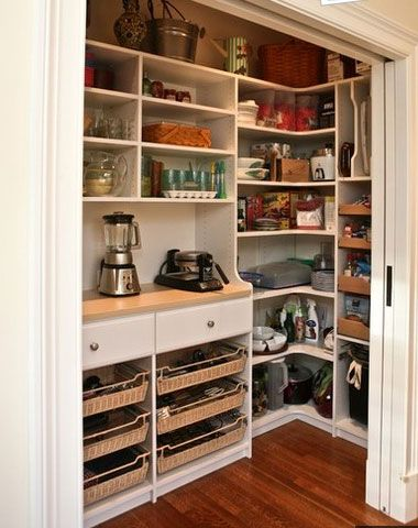 Small Kitchen Organizing Ideas - Walk in Pantry - Click Pic for 42 DIY Kitchen Organization Ideas & Tips