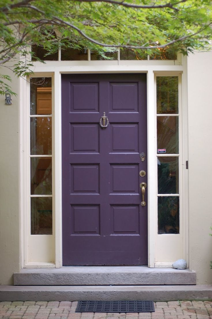 Benjamin moore front door paint colors - Benjamin Moore Regal Select Exterior Soft Gloss Dark Purple 2073 10 Purple Front Doorspurple