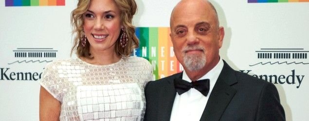 Kennedy Center Honoree Billy Joel, right, and Alexis Roderick in December 2013. (Kevin Wolf/AP)