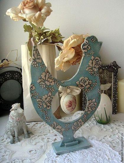"""Купить Пасхальный сувенир """"Винтажная курочка"""" - голубой, пасхальный сувенир, пасхальный подарок, пасхальный декор"""