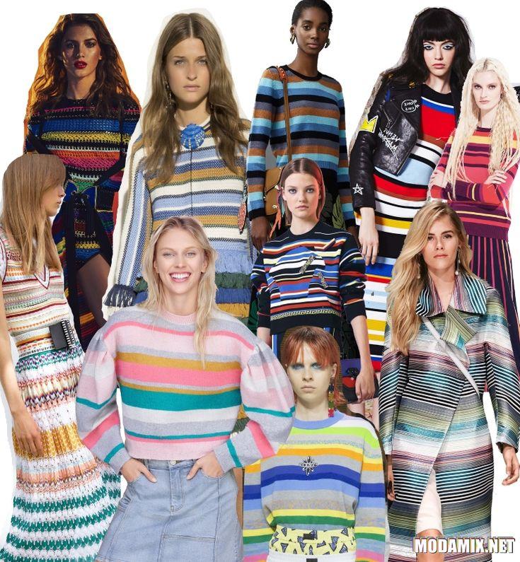Горизонтальная полоска в моде весной 2017 года