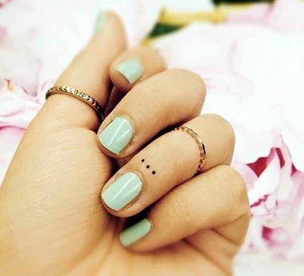 صور أجمل أشكال وشم أصابع اليد موضة 2017 Dot Tattoos Tiny Finger Tattoos Tiny Tattoos
