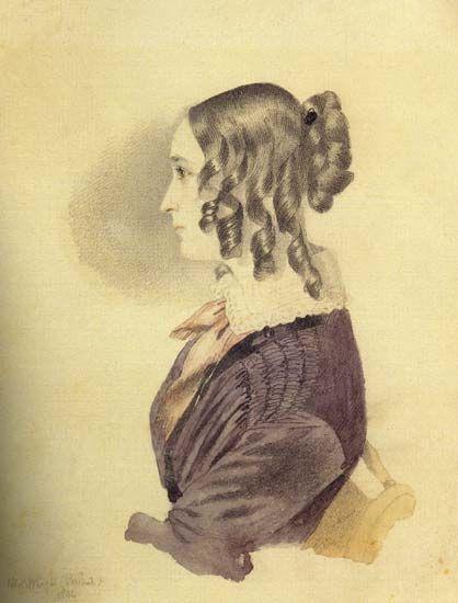 Пушкина Наталья Николаевна (1844) | Пушкина Наталья Николаевна (Гончарова, Ланская) | Русская портретная галерея