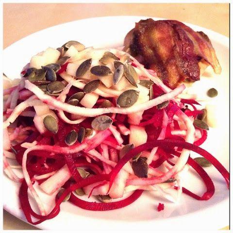 Merethe Vrå : Pastinak/rødbedesalat med kylling