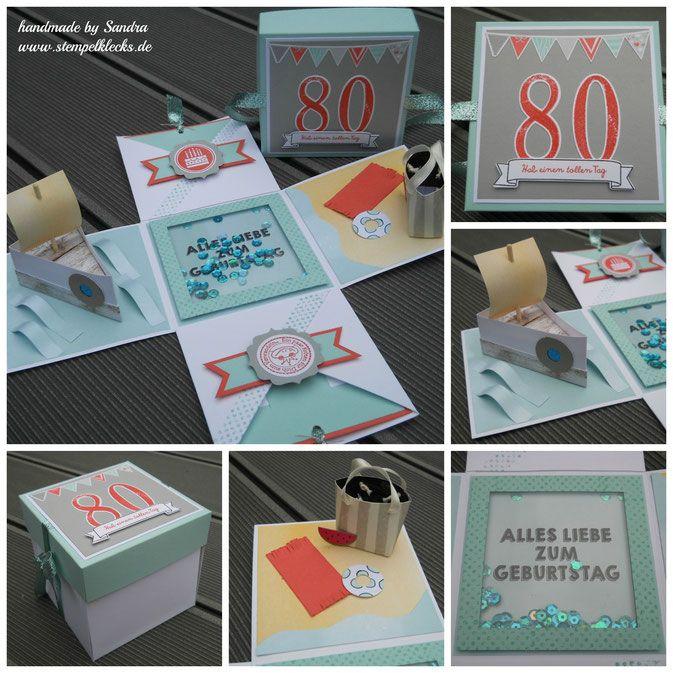 Eine Explosionsbox Zum 80 Geburtstag Explosionsbox Und Runder
