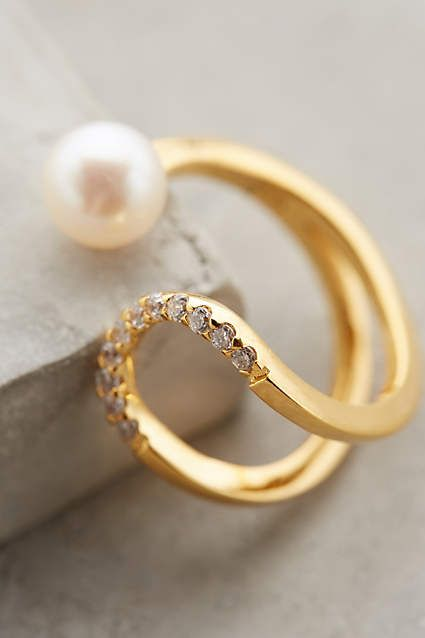 Pearl Eclipse Ring - anthropologie.com