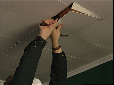 HOW TO REPLACE CEILING TILES WITH DRYWALLThese step-by-step instructions demonstrate how to remove and replace ceiling tiles with a drywall ceiling.