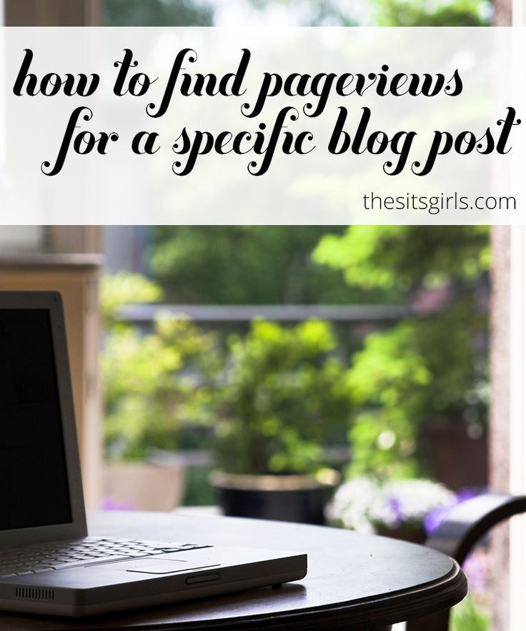 Find Pageviews For A Specific Blog Post