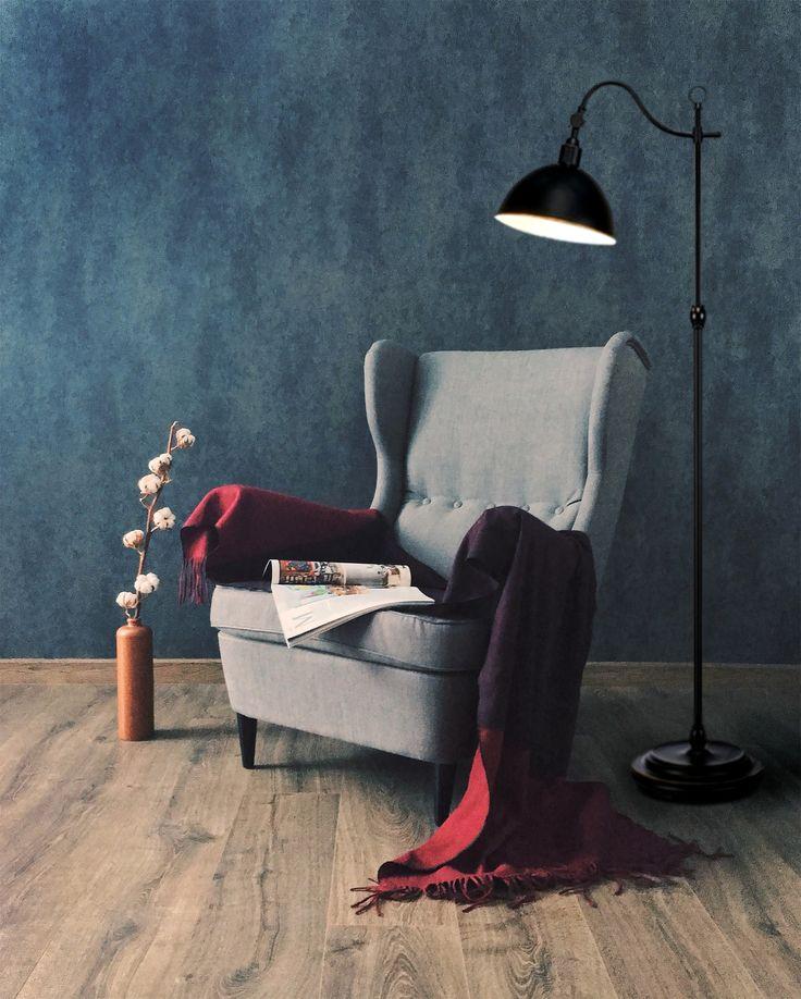 MarkSlojd Ekelund lampa podłogowa, to lampa idealna do wieczornego czytania książki, bądź relaksowania się.