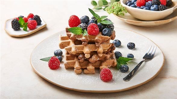 Weganskie Gofry Przepis Recipe Food Vegan Sweets Recipes