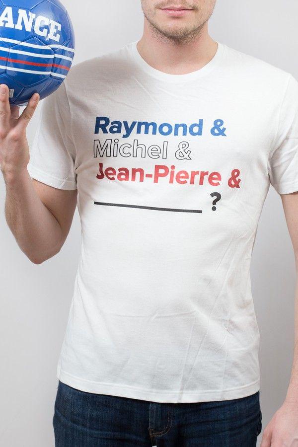 T-shirt Foot Homme Ballons d'Or Made in France : Raymond Kopa, Michel Platini, Jean-Pierre Papin & Zinédine Zidane. 4 joueurs français ayant obtenu un ballon d'or. Une devinette que trouveront tes potes?