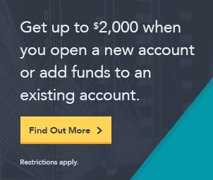 Rollover IRA   Get up to $2,000 when you open a new account or add funds to an existing account. Find out more.