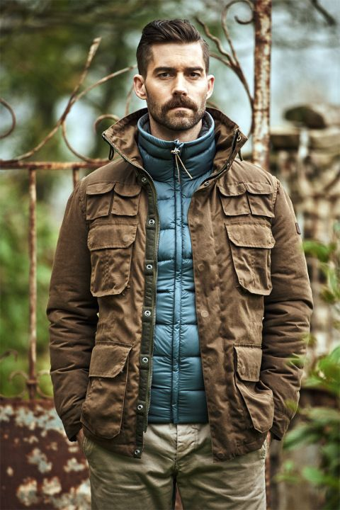 Hunting jacket and down, layering, great outdoors.