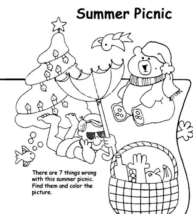 crayola coloring pages summer beach - photo#7