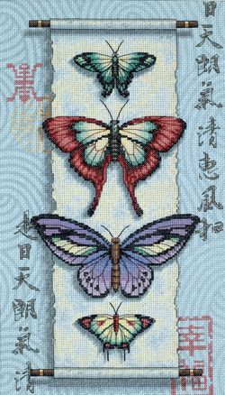 BUTTERFLY SCROLL - Counted Cross Stitch Kit