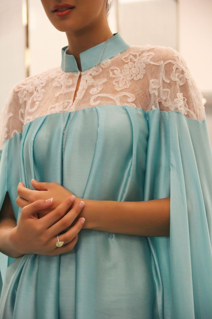 Tiffany Blue Abaya. An idea for dream wedding apparel, with compliment colour inner and scarf. lovely.