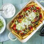 Taco Friet met gehakt topping. Een superleuke manier om je friet te eten!