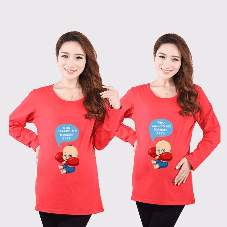 HOT Sale Long Sleeve Funny Pregnancy Shirts For Women Maternity Black Top Tees Clothing Pregnant Tops Clothes Plus Size Fall New #Affiliate