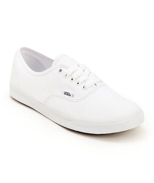 cb75ef4d21 Vans Authentic Lo Pro White Shoes