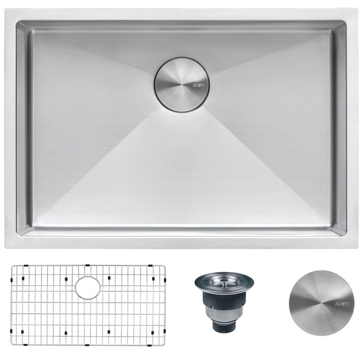 Ruvati 28 Inch Undermount 16 Gauge Tight Radius Stainless Steel Kitchen Sink Single Bowl Rvh7250 Ruvati Sta Kitchen Sink Diy Cheap Kitchen Sinks Sink