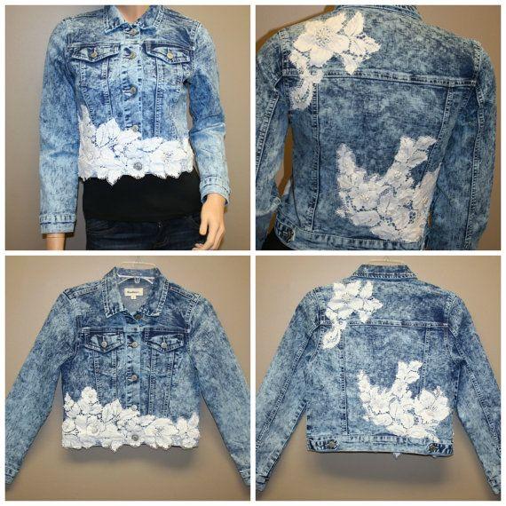 Womens denim Jacket Light street style lace by BeautyFullMall