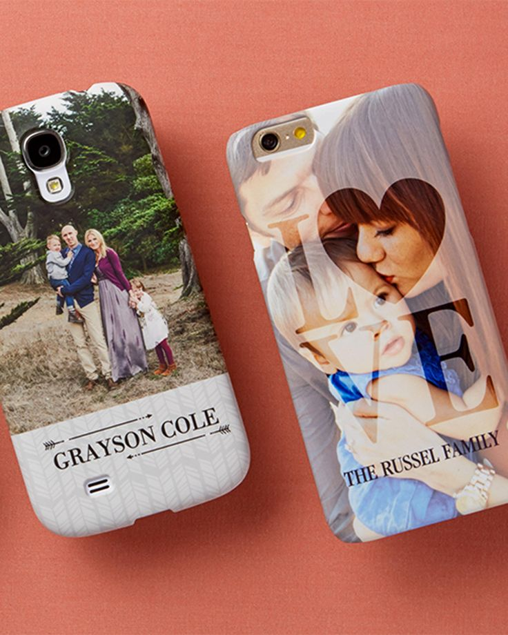 Celebrate the ones you love with personalized iPhone cases to take on the go.   Tiny Prints