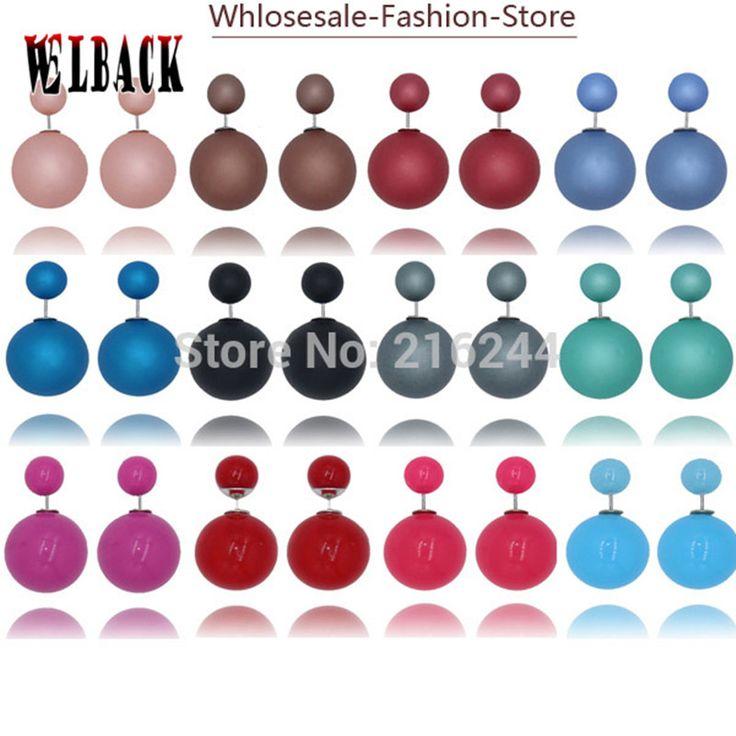 2015 newest crystal Shambhala high quality double ball rhinestone shamballah stud earrings for women ,free shipping