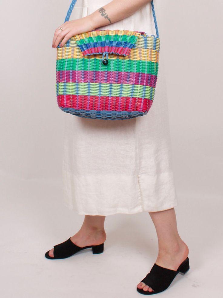 graceland collection Vintage Rainbow Stripe Jelly Handbag