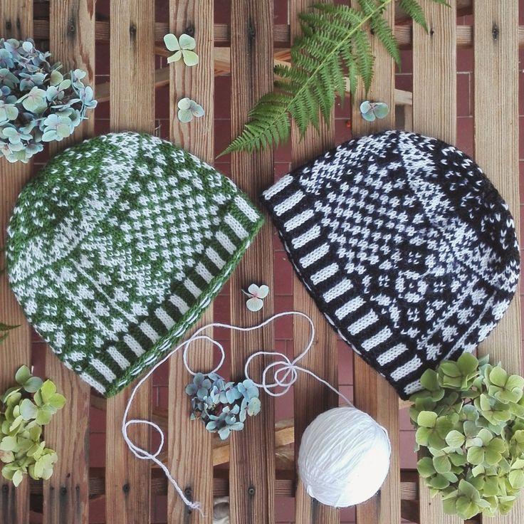Berretto unisex stile jacquard fatto a mano in pura lana. Nome : Patchwork hat di KnittingForBreakfast su Etsy