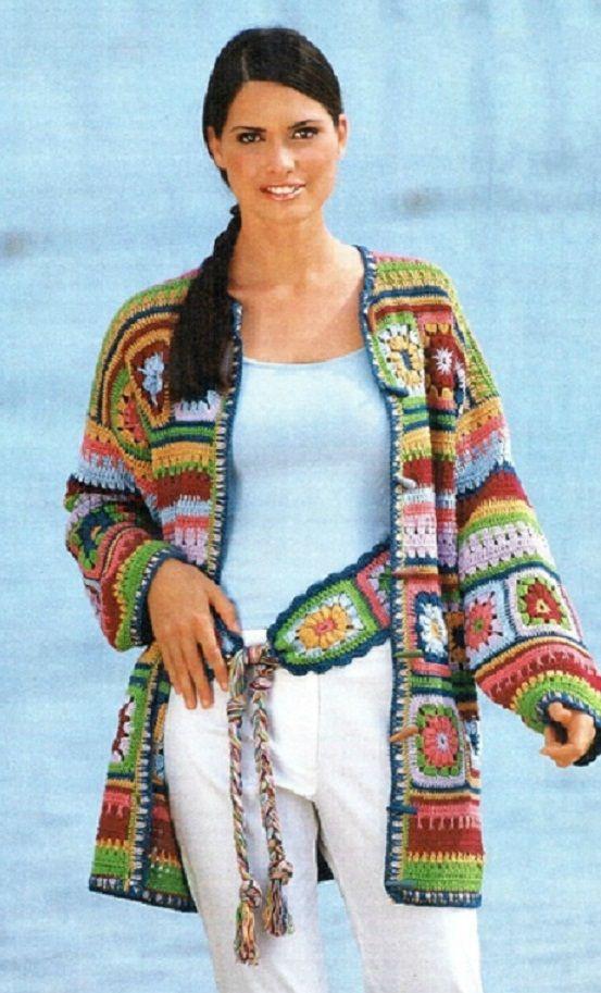 Irish crochet &: CARDIGAN ... КАРДИГАН com graficos