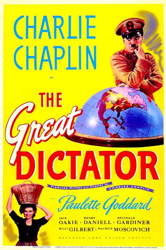 """""""The Great Dictator"""" directed by Charles Chaplin ......."""