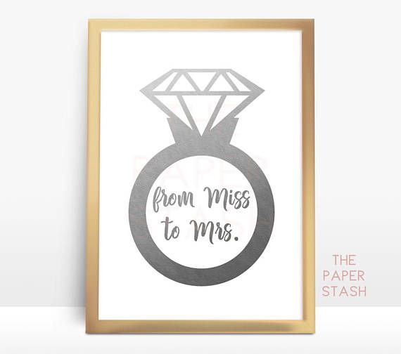 From Miss to Mrs PRINTABLE Sign SILVER Bridal Shower #printable #bridalshowerideas #bridal #shower #showerdecor #frommisstomrs #frommiss #tomrs #sign #printables #wedding #engagement #bachelorette #bacheloretteparty #silver #silverfoil #instantdownload #pdf #pdfprintable
