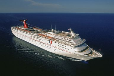 Which islands do Caribbean cruise lines visit?: The Carnival Ecstasy, part of Carnival Cruise Lines' Caribbean fleet.