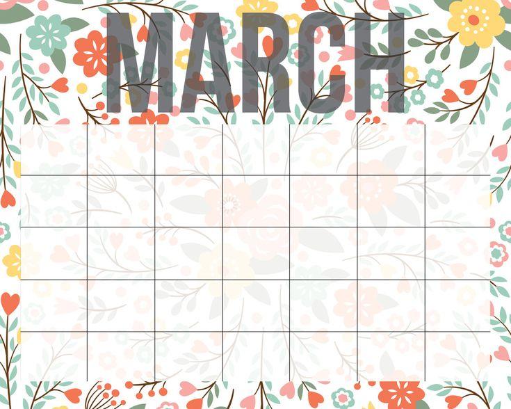 Printable Calendar by Smart School House