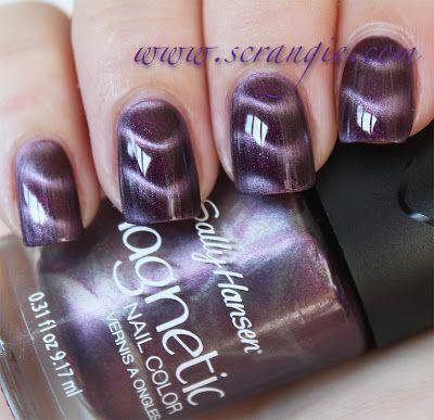 Scrangie: Sally Hansen Magnetic Nail Color - Polar Purple